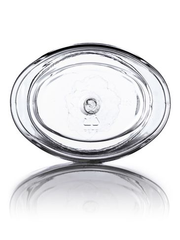 4 oz clear PET plastic single wall oval jar with 58-400 neck finish