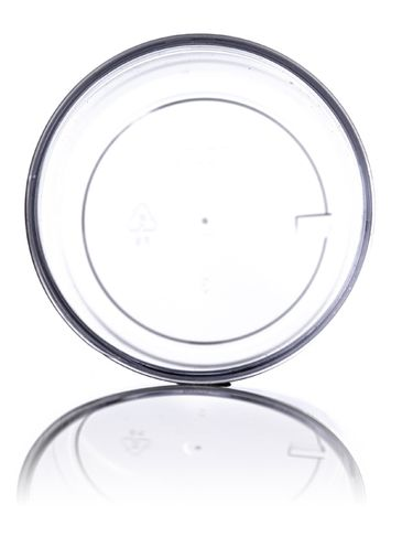 8 oz clear PS plastic single wall jar with 70-400 neck finish