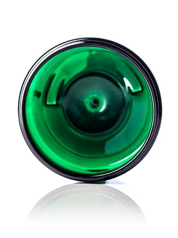 8 oz green PET plastic single wall jar with 70-400 neck finish