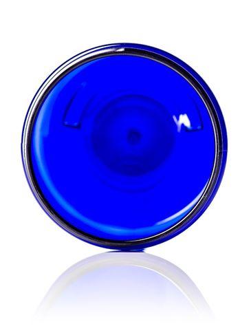 8 oz cobalt blue PET plastic single wall jar with 70-400 neck finish