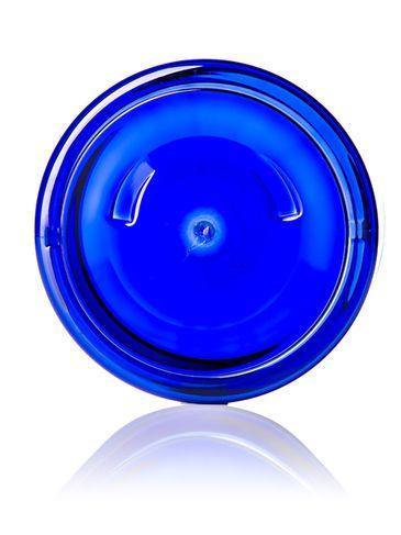 8 oz cobalt blue PET plastic single wall jar with 89-400 neck finish
