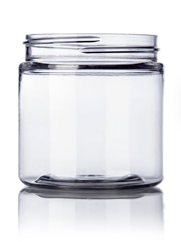 4 oz clear PET plastic single wall jar with 58-400 neck finish