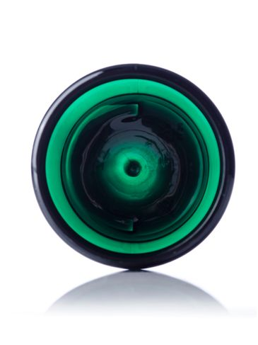 4 oz green PET plastic single wall jar with 58-400 neck finish