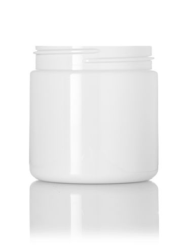 4 oz white PET plastic single wall jar with 58-400 neck finish