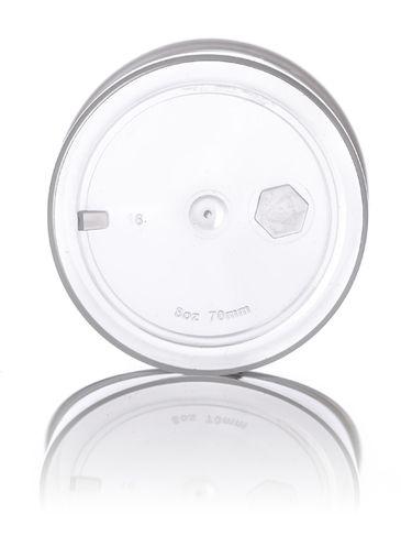 8 oz clarified PP plastic single wall jar with 70-400 neck finish