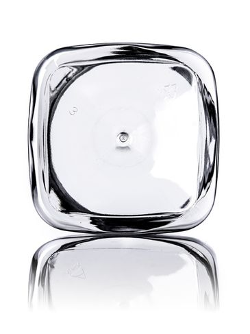 16 oz clear PET plastic square firenze jar with 89-400 neck finish
