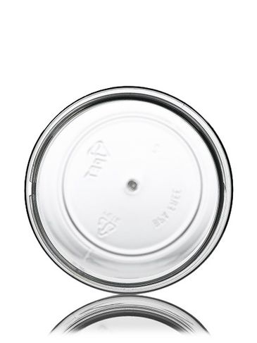 12 oz clear PET plastic single wall jar with 70-400 neck finish