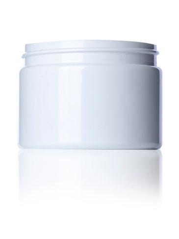 12 oz white PET plastic single wall jar with 89-400 neck finish