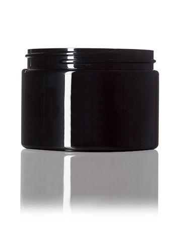 12 oz black PET plastic single wall jar with 89-400 neck finish