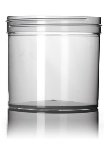 12 oz natural-colored PP plastic single wall jar with 89-400 neck finish