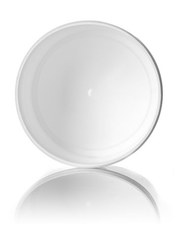 12 oz white PP plastic single wall jar with 89-400 neck finish