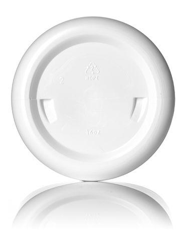 16 oz white HDPE plastic single wall jar with 89-400 neck finish
