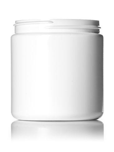 8 oz white HDPE plastic single wall jar with 70-400 neck finish