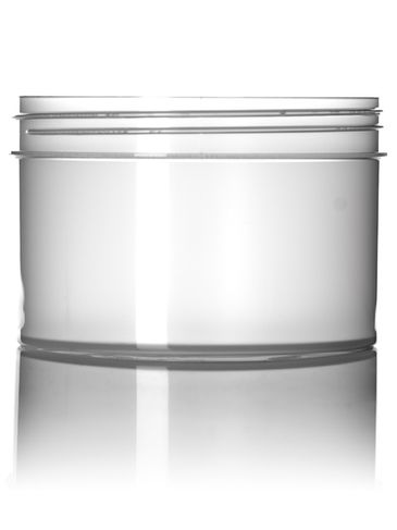24 oz natural-colored PP plastic single wall jar with 120-400 neck finish