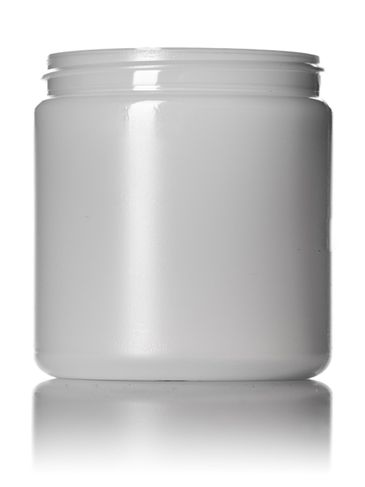 8 oz natural-colored HDPE plastic single wall jar with 70-400 neck finish
