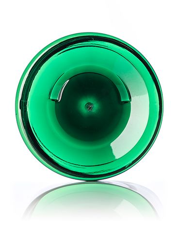 19 oz green PET plastic single wall jar with 89-400 neck finish