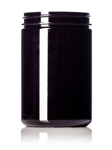 25 oz dark amber PET plastic single wall jar with 89-400 neck finish