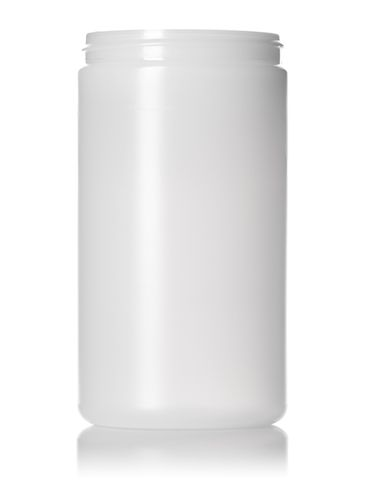 32 oz natural-colored HDPE plastic single wall jar with 89-400 neck finish