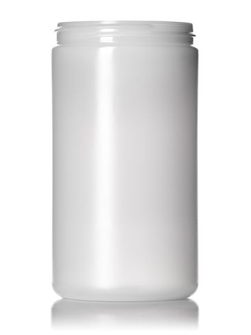 32 oz natural-colored HDPE plastic single wall anti-static jar with 89-400 neck finish