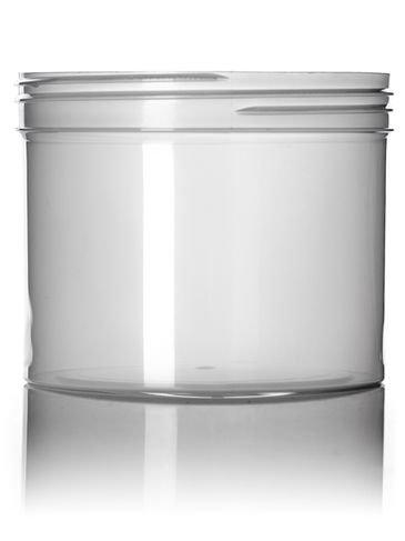 32 oz natural-colored PP plastic single wall jar with 120-400 neck finish