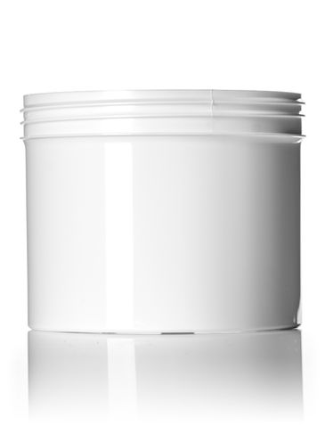 32 oz white PP plastic single wall jar with 120-400 neck finish