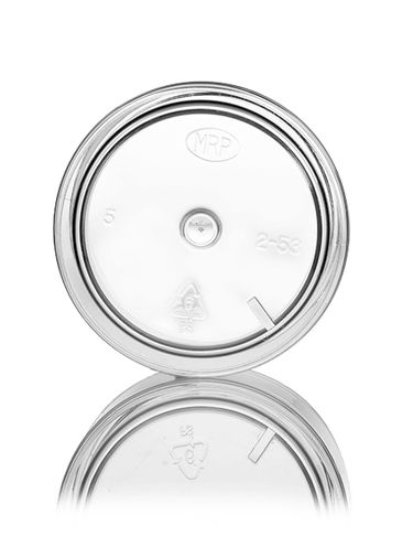 2 oz clear PS plastic thick wall jar with 53-400 neck finish
