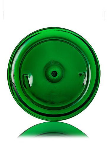 32 oz green PET plastic single wall jar with 89-400 neck finish