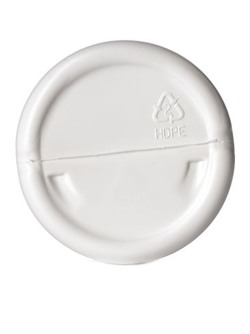 16 oz white HDPE plastic single wall canister with 70-400 neck finish