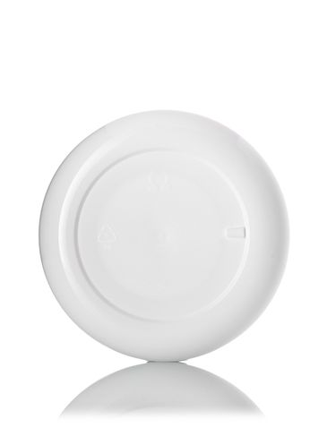 4 oz white PP plastic double wall round base low profile jar with 89-400 neck finish