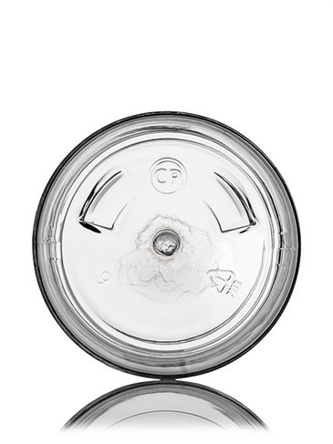 3 oz clear PET plastic single wall jar with 58-400 neck finish