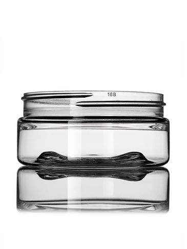 3 oz clear PET plastic single wall jar with 70-400 neck finish