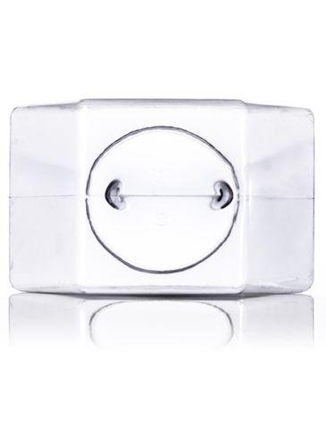 197 oz clear PVC plastic 6 x 8 inch hex-shaped jar