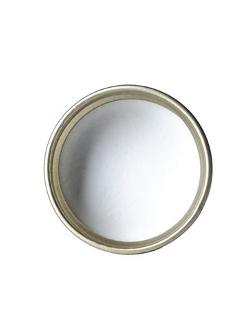 White metal 33-400 lid with standard plastisol liner
