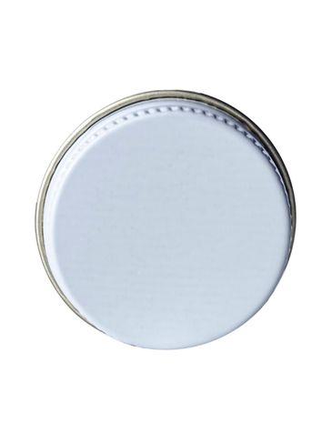 White metal 28-400 lid with standard plastisol liner
