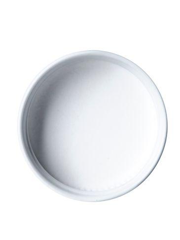 White metal 38-400 lid with standard plastisol liner
