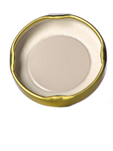Gold metal 43TW lid with standard plastisol liner