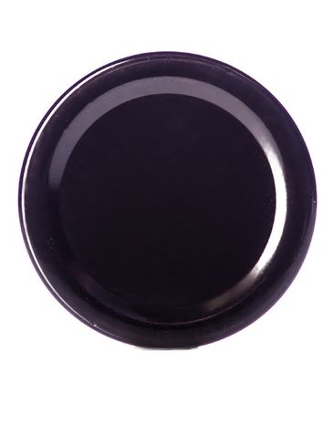 Black metal 58TW lid with pasteurization-grade plastisol liner