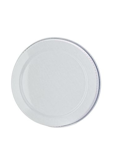 White metal 58-400 lid with standard plastisol liner
