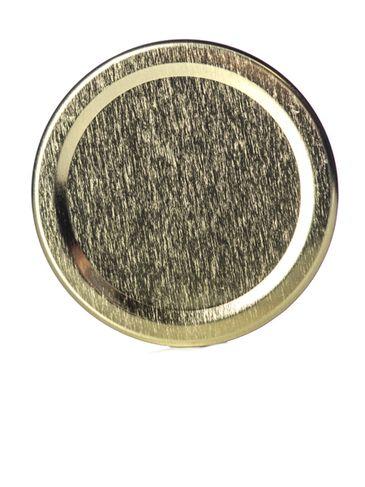 Gold metal 63TW lid with pasteurization-grade plastisol liner
