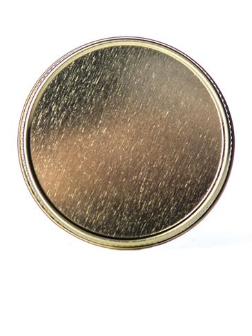 Gold metal 63-400 lid with standard plastisol liner