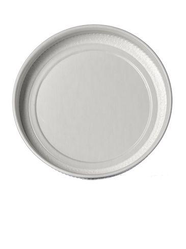 White metal 70-400 lid with standard plastisol liner