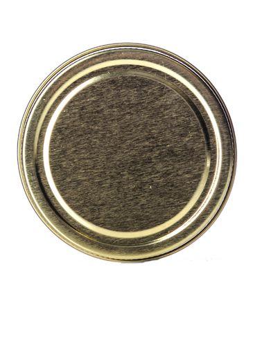 Gold metal 70-400 lid with standard plastisol liner