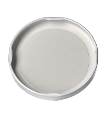 White metal 70TW lid with pasteurization-grade plastisol liner
