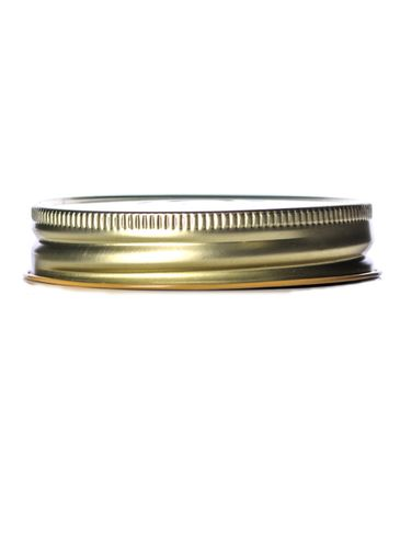 Gold metal 70-450G lid with standard plastisol liner and vacuum seal button