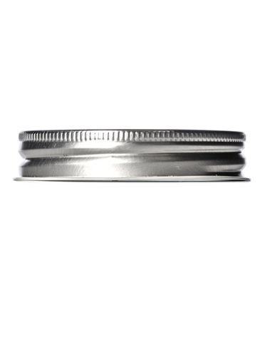 Silver metal 70-450G lid with standard plastisol liner and vacuum seal button