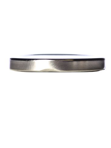 Silver metal 70TW lid with pasteurization-grade plastisol liner