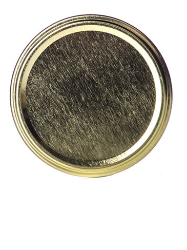 Gold metal 82TW lid with pasteurization-grade plastisol liner