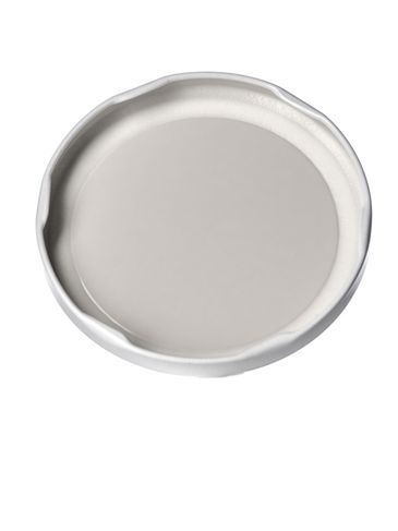 White metal 82TW lid with pasteurization-grade plastisol liner