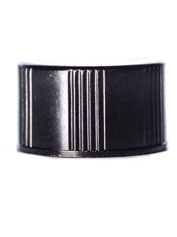 Black phenolic 13-425 ribbed skirt lid with foam liner