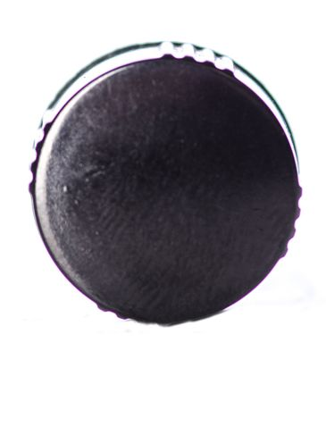 Black phenolic 13-425 lid with PP polycone liner